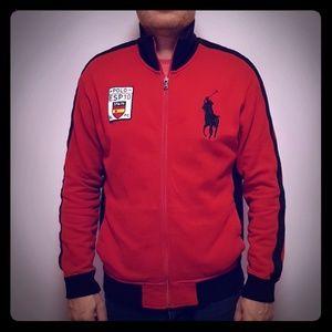 Polo Ralph Lauren ESP Spain Red zipper Size L 🇪🇸